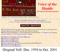 Old VoS: Dec. 1994 to Oct. 2001